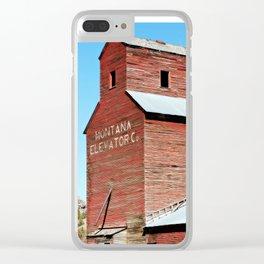 Montana Grain Elevator Clear iPhone Case