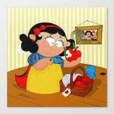 Snow White (apple) Canvas Print