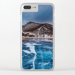 Snow Mountain No1 Clear iPhone Case