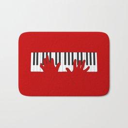 Piano Hands Bath Mat