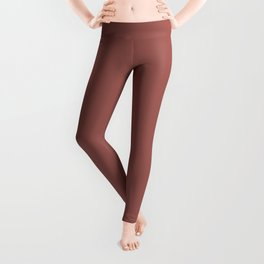 PPG Glidden Trending Colors of 2019 Fire Weed Muted Red PPG1056-6 Solid Color Leggings