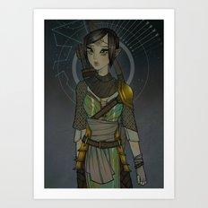 Warden Mahariel Art Print