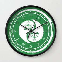 Libra Yin Yang Seventh Zodiac Sign Wall Clock
