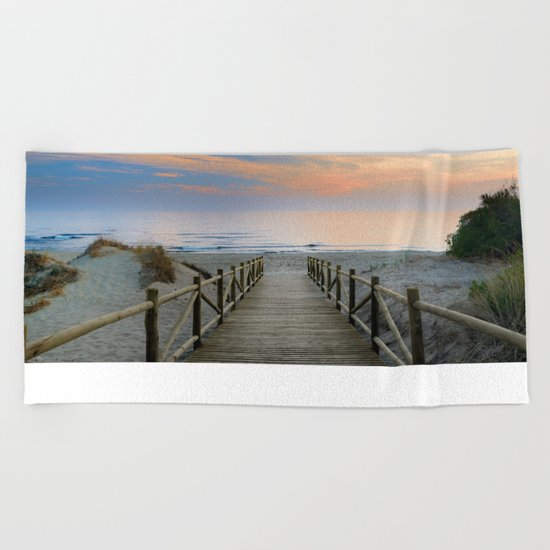 "The path..., the beach.... ""Artola"". Beach Towel"