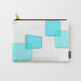 Green square pattern Carry-All Pouch