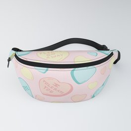 Introvert Conversation Hearts Fanny Pack