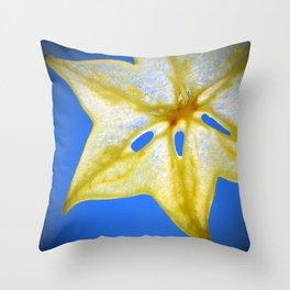 Star Fruit Throw Pillow
