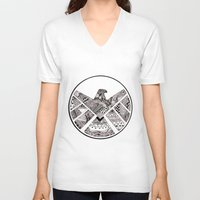 agents of shield V-neck T-shirts featuring SHIELD by Ruth Ms