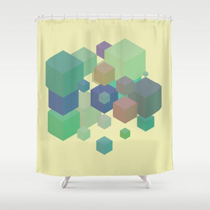 Fly Cube N1.6 Shower Curtain