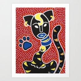 Un Gato Art Print