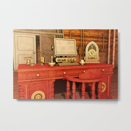 Steampunk Office Metal Print