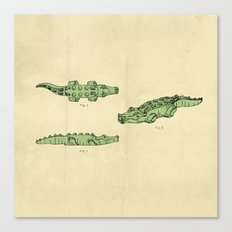 Lego Crocodile  Canvas Print