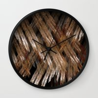 angel wings Wall Clocks featuring Angel Wings by GothicToggs