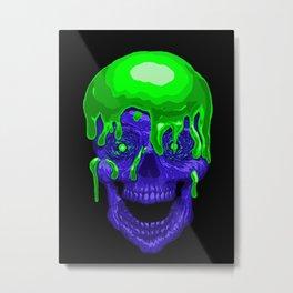 Slime Skull Metal Print