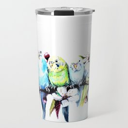 Bloomin' Budgies Travel Mug