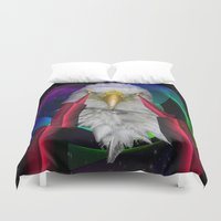 eagle Duvet Covers featuring eagle by mark ashkenazi