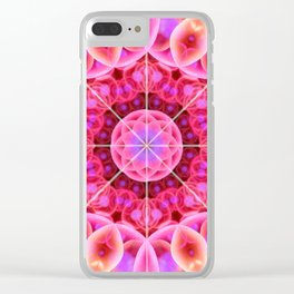 Pink and Violet Healing Mandala Clear iPhone Case