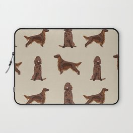 Irish Setter dog breed pet pattern gifts for irish setters Laptop Sleeve