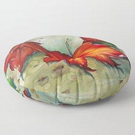 Autumn Leaves (Platanus) Floor Pillow