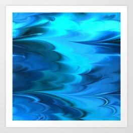 Wave Caustics I Art Print