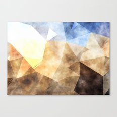 On the fields- Abstract watercolor triangle pattern Canvas Print