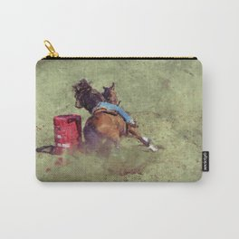 The Barrel Racer - Rodeo Horse and Rider Carry-All Pouch