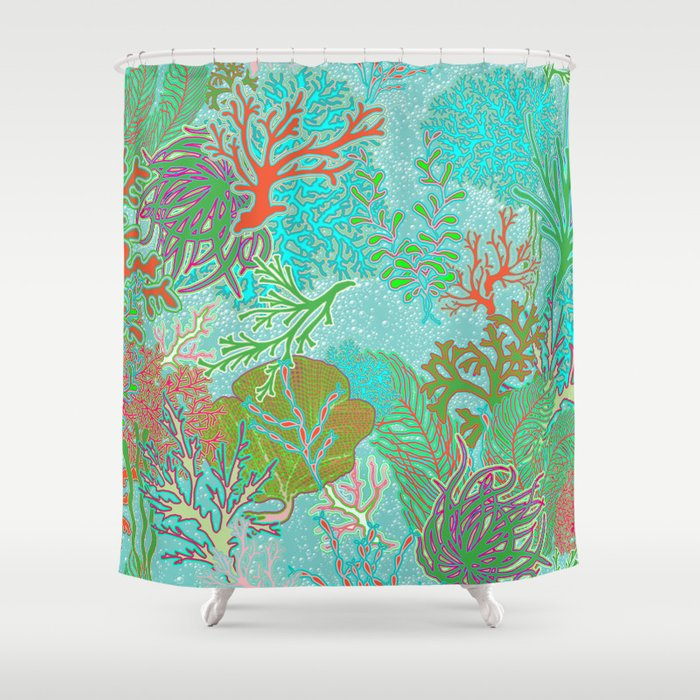 Coral Reef Shower Curtain By Hollyce
