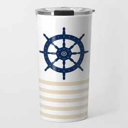 AFE Sapphire  Blue Helm Wheel Travel Mug