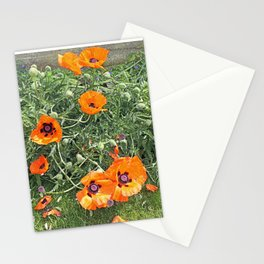 South winds jostle them; poppies in the garden Stationery Cards