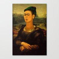 Frida Kahlo's Mona Lisa Canvas Print