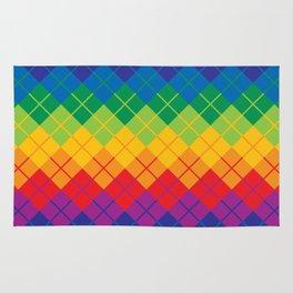 Rainbow Argyle Rug