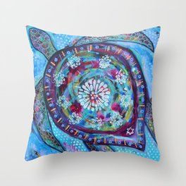 She Turtle Throw Pillow