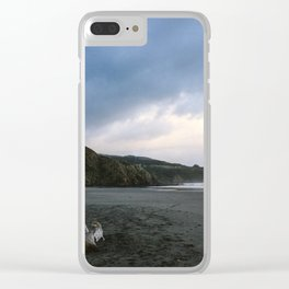 Black beach - New Zealand Clear iPhone Case