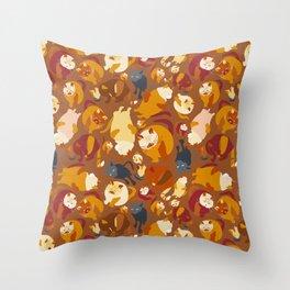 Puppy-Cat & friends Throw Pillow