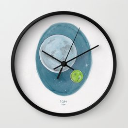 Watercolor Illustration of Haruki Murakami's novel 1Q84 Wall Clock