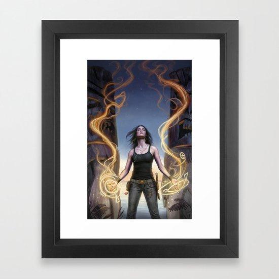 Grim Tides Framed Art Print