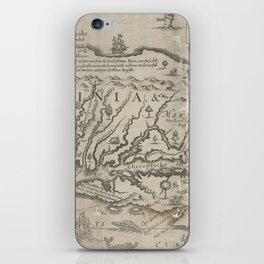 Vintage Map of Virginia (1651) iPhone Skin