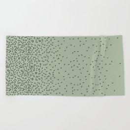 ANTS GREEN (BIG RUG) Beach Towel