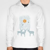 pixies Hoodies featuring All Good Deer go to Heaven by Cocorrina