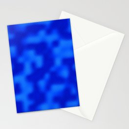 Nuclear Blueberry Abstract in Royal Blue Stationery Cards
