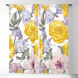 Yellow roses 8 Blackout Curtain