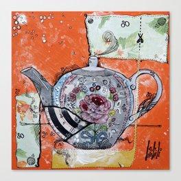 TEA POT - madewithunicorndust by Natasha Dahdaleh Canvas Print