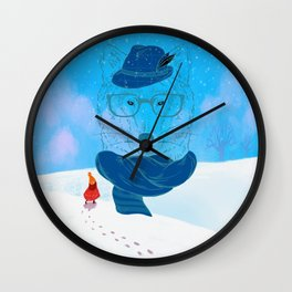 Red Cloak and Wolf uncle Wall Clock