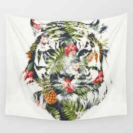 Tropical tiger Wall Tapestry