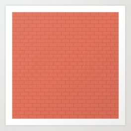 Red Terracotta Bricks Pattern Art Print