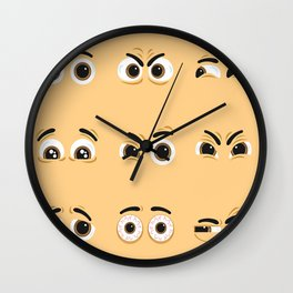 Pack of nice character eyes Wall Clock