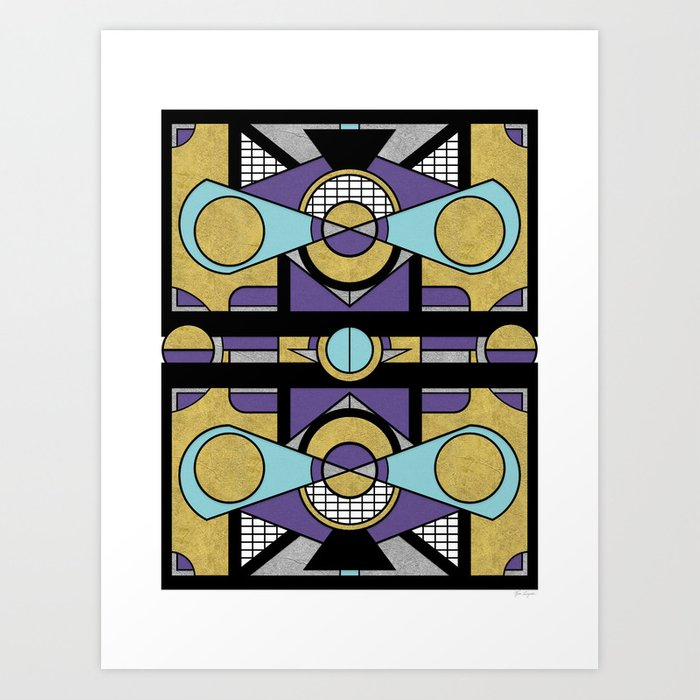 Art Deco Set Piece - Geometric Abstract Design Art Print