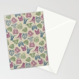 Pup Pattern Stationery Cards