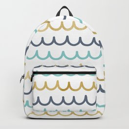 Golden Pastel Waves Backpack
