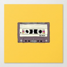 Polka dot cassette tape Canvas Print